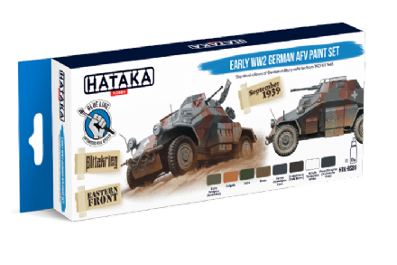 Hataka Early German AFV Paint Set (Acrylic for Brush Painting)